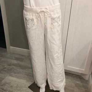 INC International Concepts white linen pants 12